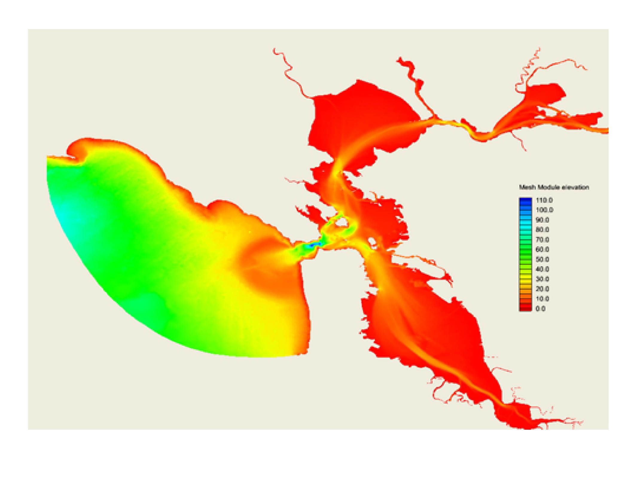 San francisco bay operational forecast system sfbofs sfbofs bathymetry nvjuhfo Image collections