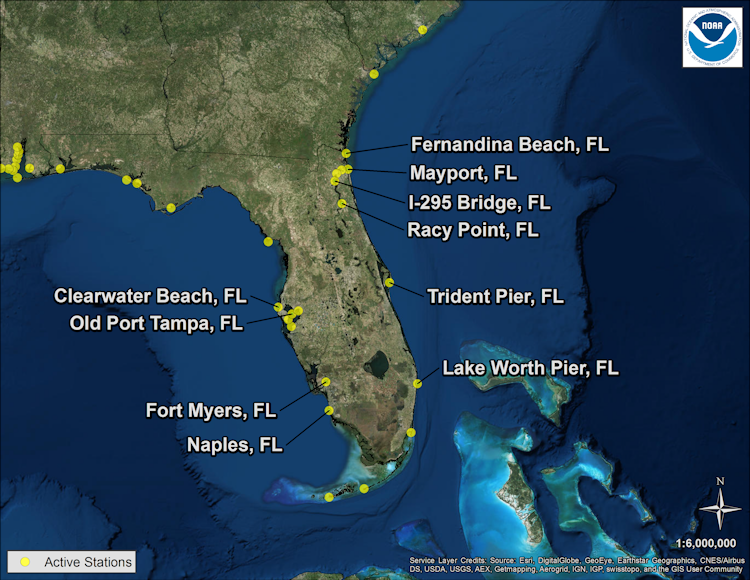Noaa And Partnership Stations Relative To The Storm